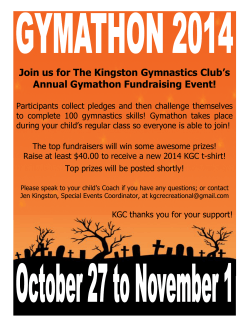 Join us for The Kingston Gymnastics Club׳s Annual Gymathon