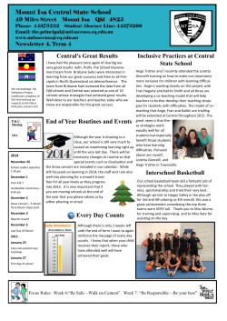 newsletter-week-7-term4-2014 - Mount Isa Central State School