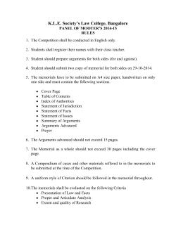Rules of Moot Problem - KLE Society Law College