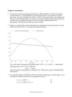 Econometric Exercise