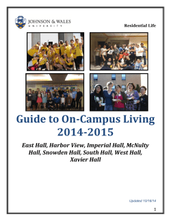 Guide to On-Campus Living