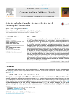 A simple and robust boundary treatment for the forced Korteweg-de