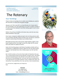 29th - Rotary Club of Jindalee