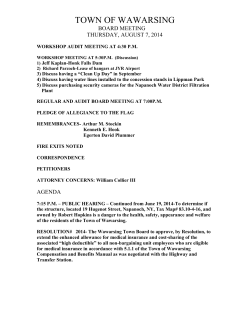 Board Meeting Agenda- 08/07/2014