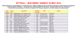 wythall - bus rides: sunday 25 may 2014