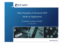 Presentation of webinar - NT-MDT