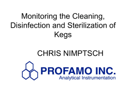 Monitoring the Cleaning, Disinfection and Sterilization of Kegs