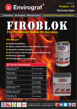Fire Protection Sleeve for Services