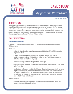 Case Study: Dyspnea and Heart Failure