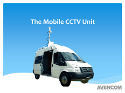 Brochure of Mobile CCTV Unit