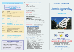 CSE national conference - Valliammai Engineering College