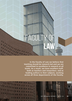 Faculty of LAW - UCT Research 2013 -2014
