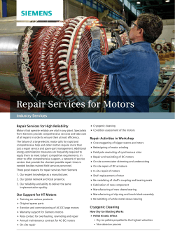Repair Services for Motors