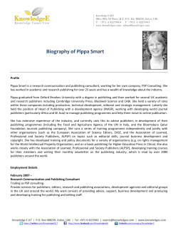Biography of Pippa Smart