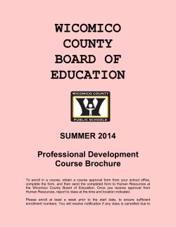 WICOMICO COUNTY BOARD OF EDUCATION