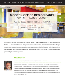 Modern Office Design Panel What Tenants Want