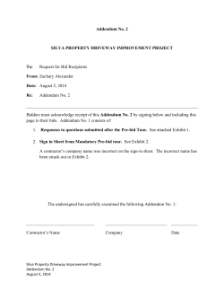 Silva Property RFP - Addendum 2