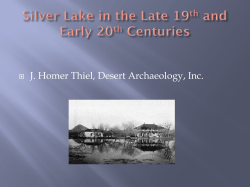 Silver Lake in the Late 19th and Early 20th Century