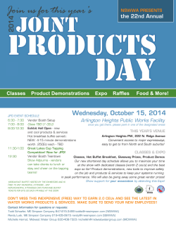 Joint Products Day (NSWWA Host)