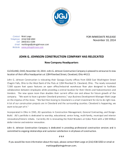 JOHN G. JOHNSON CONSTRUCTION COMPANY HAS RELOCATED