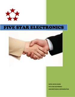 FIVE STAR ELECTRO IVE STAR ELECTRONICS ECTRONICS