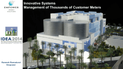 Innovative Systems Management of Thousands of Customer Meters