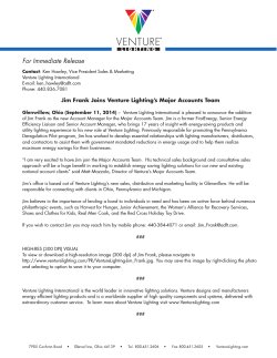 Venture Lighting Press Release