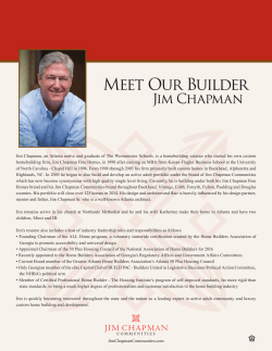 Meet Our Builder - Jim Chapman Communities