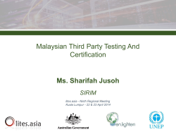 Malaysian Third Party Testing And Certification Ms