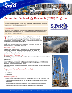 Separation Technology Research (STAR) Program