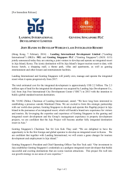 Press Release - Genting Singapore