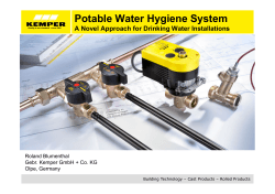 Potable Water Hygiene System A Novel Approach for