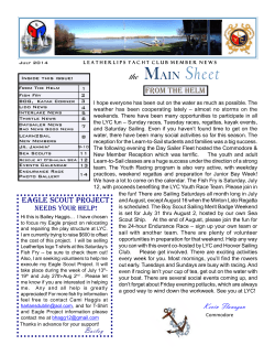 July 2014 Mainsheet - Leatherlips Yacht Club