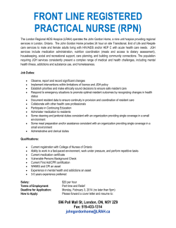 front line registered practical nurse (rpn)