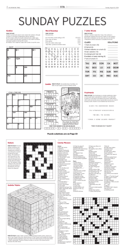 Puzzle solutions are on Page 10