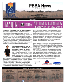 February 2014 Newsletter - Permian Basin Builders Association