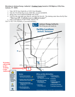 Directions to JEA Training Facility, Jackson TN