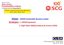 Vision: ASEAN Sustainable Business Leader Strategies: 1