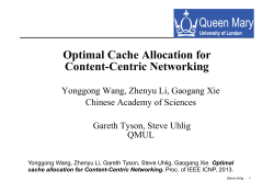 Optimal Cache Allocation for Content