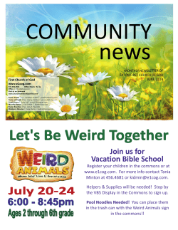 Join us for Vacation Bible School