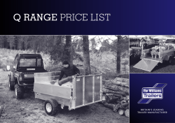 Q RANGE PRICE LIST - Ifor Williams Trailers Ltd