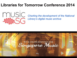 MusicSG - Library Association of Singapore