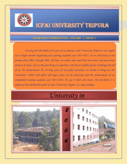 The ICFAI University, Tripura News Letter 2014