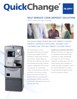 SELF-SERVICE COIN DEPOSIT SOLUTION.
