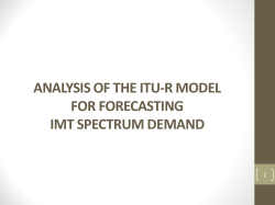Analysis of the ITU-R model for forecasting IMT spectrum