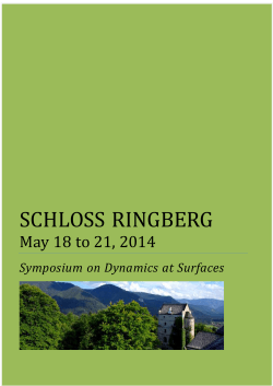 Conference Retreat Ringberg 2014_Programme and Abstracts