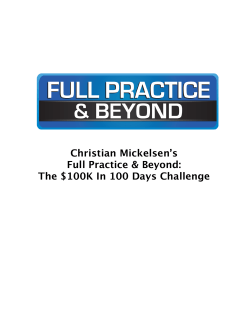 The $100K In 100 Days Challenge
