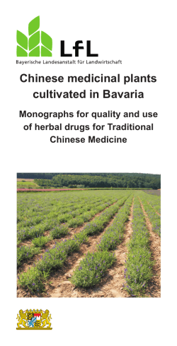 IPZ-Chinese Medicinal Plants made in Bavaria Broschüre