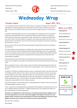 Wednesday Wrap - Diamond Creek Primary School