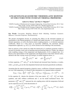 Linear/nonlinear geometric thermoelastic response of